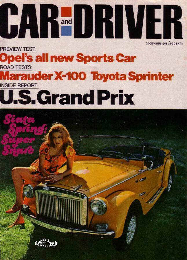 Car And Driver December 1968
